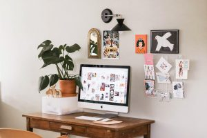 working from home desk set up designed to improve wellbeing